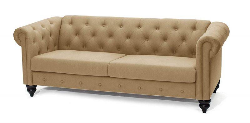 slaap sofa chaise beige